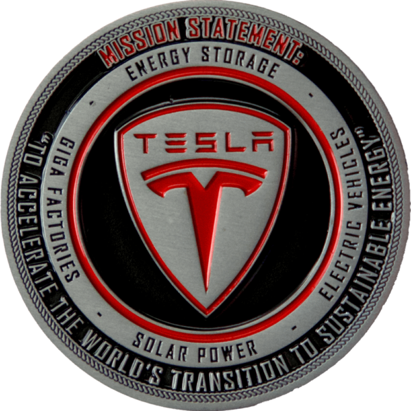Tesla coin front